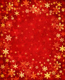 Snowflakes on Red Texture Royalty Free Stock Image