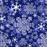 Snowflakes repeat Pattern Royalty Free Stock Photo