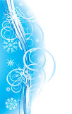 Snowflakes. Romance Christmas background Stock Photo