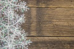 Snowflakes on a rustic wooden surface. It`s a holiday! Winter decoration of snowflake on a rustic wooden surface Stock Images