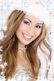 snowflakes santa αρωγών κοριτσιών Στοκ Φωτογραφίες