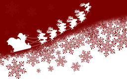Snowflakes and Santa Claus Royalty Free Stock Photo