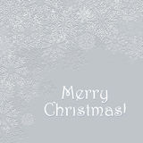 Snowflakes sChristmas lacy  greeting card Royalty Free Stock Image