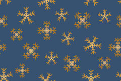 Snowflakes seamless. Seamless of falling snowflakes on blue background - vector illustration Stock Photos