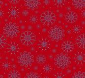Snowflakes seamless Stock Images