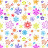 Snowflakes seamless Royalty Free Stock Photography