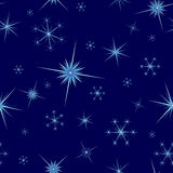 Snowflakes seamless background. Snowflakes seamless with blue background Stock Image