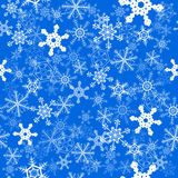 Snowflakes seamless background Royalty Free Stock Photo