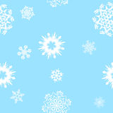 Snowflakes-seamless background Stock Photography