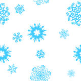 Snowflakes-seamless background Stock Images