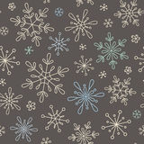 Snowflakes seamless background Royalty Free Stock Photography