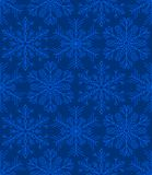 Snowflakes Seamless Background Pattern. Vector. Blue Snowflakes Seamless Background Pattern. Vector illustration Stock Images