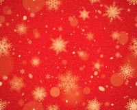 Snowflakes seamless background - Red Stock Photos