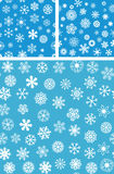 3 Snowflakes Seamless Background set. Vector file Royalty Free Stock Photography