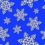 Snowflakes Seamless Blue Vector Background Stock Image