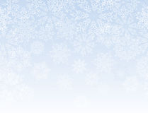 Snowflakes seamless border pattern Royalty Free Stock Photo