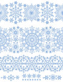 Snowflakes seamless border.Winter pattern lace Stock Photography