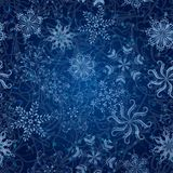 Snowflakes, seamless Christmas background Stock Photography