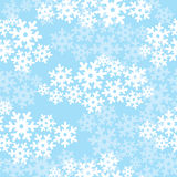 Snowflakes seamless christmas pattern. Snowflakes seamless background, snow seamless cloudy pattern Stock Photo