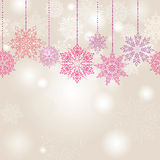 Snowflakes seamless garland background Stock Image