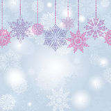 Snowflakes seamless garland background Royalty Free Stock Photo