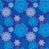Snowflakes seamless pattern Stock Photos