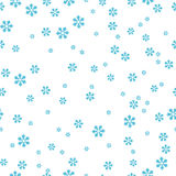Snowflakes seamless pattern. Isolated on white Stock Photography