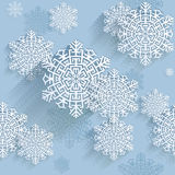 Snowflakes, seamless pattern Royalty Free Stock Photography