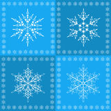 Snowflakes seamless pattern. Winter  seamless pattern with snowflakes, vector illustration Stock Photos