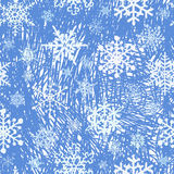 Snowflakes seamless pattern background Stock Image