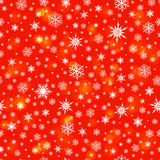 Snowflakes seamless pattern background. Vector Royalty Free Stock Photo