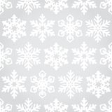 Snowflakes seamless pattern background Royalty Free Stock Photos