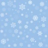 Snowflakes seamless pattern Royalty Free Stock Photos