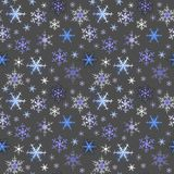 Snowflakes. Seamless pattern of blue snowflakes Royalty Free Stock Image