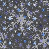Snowflakes. Seamless pattern of blue snowflakes Royalty Free Stock Photography