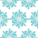 Snowflakes seamless pattern. Blue snowflake  xmas background Royalty Free Stock Image