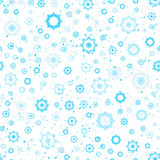 Snowflakes seamless pattern, blue and white colors Royalty Free Stock Photo