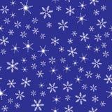 Snowflakes seamless pattern. Blue and white  illustration Royalty Free Stock Photo