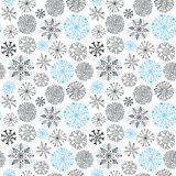 Snowflakes seamless pattern. Christmas and New Year design wrapping paper design. Snowflakes seamless pattern. Christmas and New Year design wrapping paper royalty free illustration