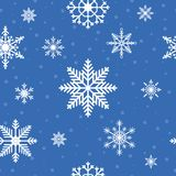 Snowflakes seamless pattern. Christmas and New Year winter holiday background. Vector. Royalty Free Stock Photo