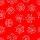 Snowflakes. Seamless pattern with decorative snowflakes Royalty Free Stock Images