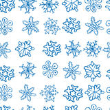 Snowflakes seamless pattern, Royalty Free Stock Images