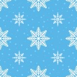 Snowflakes seamless pattern. New Year and Christmas winter holiday background. Vector. Stock Photo