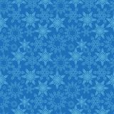 Snowflakes seamless pattern. New Years snow endless background, winter repeating texture. Christmas backdrop. Vector. Illustration Royalty Free Stock Image