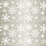 Snowflakes - seamless pattern. Stock Photos