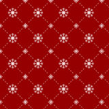 Snowflakes seamless pattern in red background Royalty Free Stock Photos