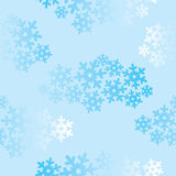 Snowflakes seamless pattern, snow background. Royalty Free Stock Photography