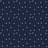 Snowflakes seamless pattern. Snow falls background Vector illustration stock photo