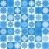 Snowflakes seamless pattern stock illustration