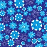 Snowflakes seamless pattern. Royalty Free Stock Photos